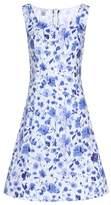 Oscar de la Renta Cotton-blend dress