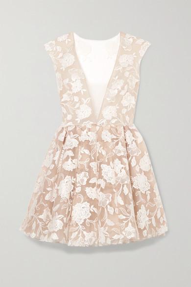 Rime Arodaky Rory Embroidered Tulle Mini Dress - White