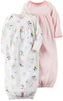 Carter's Baby Girl 2-pk. Floral & Geometric Sleeper Gowns