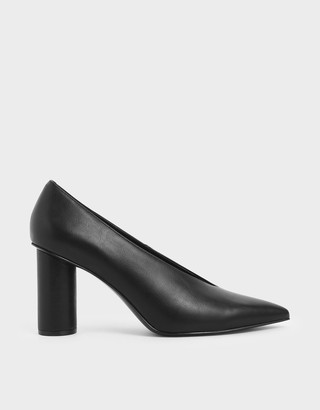 Charles & Keith V-Cut Cylindrical Heel Pumps