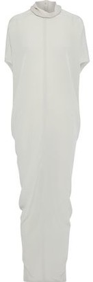 Rick Owens Island Silk Crepe De Chine Maxi Dress