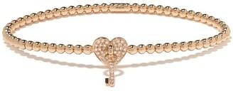 Monan 18kt Rose Gold Diamond Heart Detail Bracelet