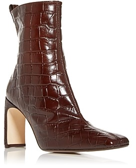Miista Women's Marcelle Croc-Embossed High-Heel Boots