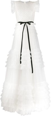 Loulou Embellished Tulle Gown