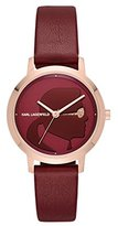 Karl Lagerfeld Women's 'Camille' Quartz Stainless Steel and Leather Casual Watch