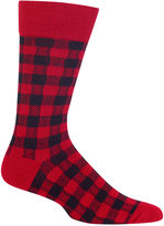 Hot Sox Men's Buffalo Plaid Socks