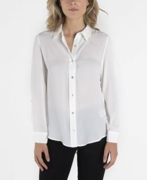 Nanette Lepore nanette Long Sleeve Button Down Collar Shirt