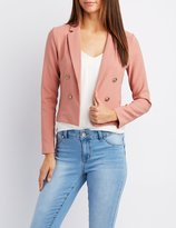 Charlotte Russe Notched Lapel Cropped Blazer