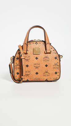MCM Essential Studded Outline Visetos Mini T Bag