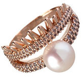 BCBGeneration Pearl Group Faux Pearl Ring