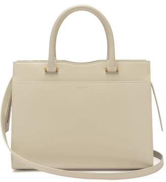 Saint Laurent Uptown Leather Tote - Womens - Cream