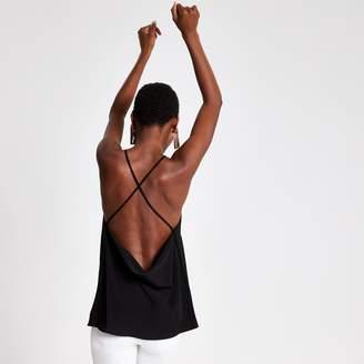 River Island Womens Black cowl back cami top