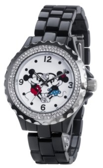 EWatchFactory Disney Mickey and Minnie Women's Enamel Alloy Watch 41mm