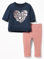 Old Navy Graphic Sweatshirt & Cuffed Leggings Set for Baby