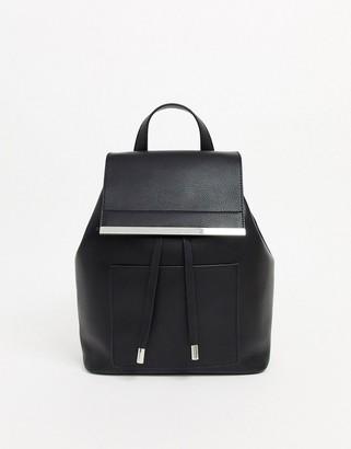 Asos Design DESIGN backpack with bar detail-Black