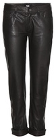 Paige Jimmy Jimmy Crop leather trousers