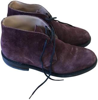 Church's Burgundy Suede Lace ups
