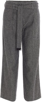 S Max Mara 'S Max Mara Houndstooth Belted Trousers