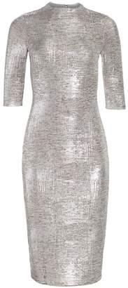 Alice + Olivia Delora Fitted Metallic Dress