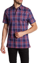 Vince Short Sleeve Printed Trim Fit Shirt