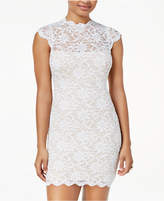 Jump Juniors' Lace Mock-Neck Bodycon Dress