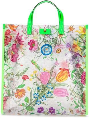 Gucci Flora Print Tote Bag