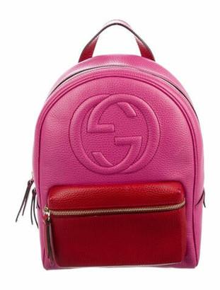 Gucci GG Soho Chain Backpack Pink