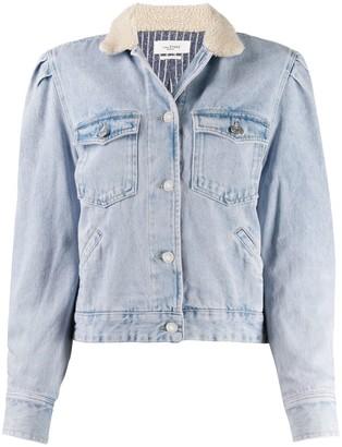 Etoile Isabel Marant Nolinea contrasting-collar denim jacket