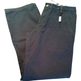 Burberry Navy Cotton Trousers