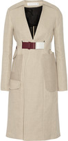 Victoria Beckham Jute and silk-blend canvas trench coat