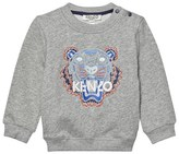 Kenzo Grey Marl Tiger Embroidered Sweatshirt