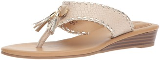 Lindsay Phillips Women's Thong Wedge Sandal
