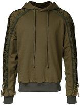 Juun.J embroidered drawstring detail hoodie - men - Cotton - 46