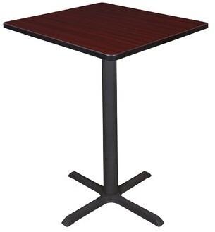 "Hendrix Square Cafe Table Symple Stuff Top Finish: Mahogany, Size: 42"" H x 30"" W x 30"" D"