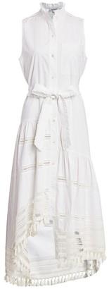 Derek Lam 10 Crosby Nerioa Lace Insert Tie-Wiast Maxi Dress