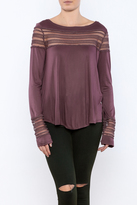 Free People Mesh Insert Tee
