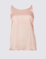 Limited Edition Satin Scoop Neck Vest Top