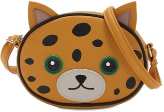 Molo Leopard Faux Leather Shoulder Bag