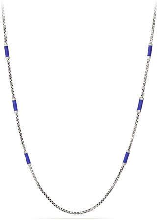David Yurman Men's Hex Chain Station Necklace, Blue