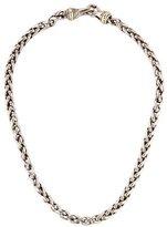 David Yurman Two-Tone Medium Wheat Chain Necklace