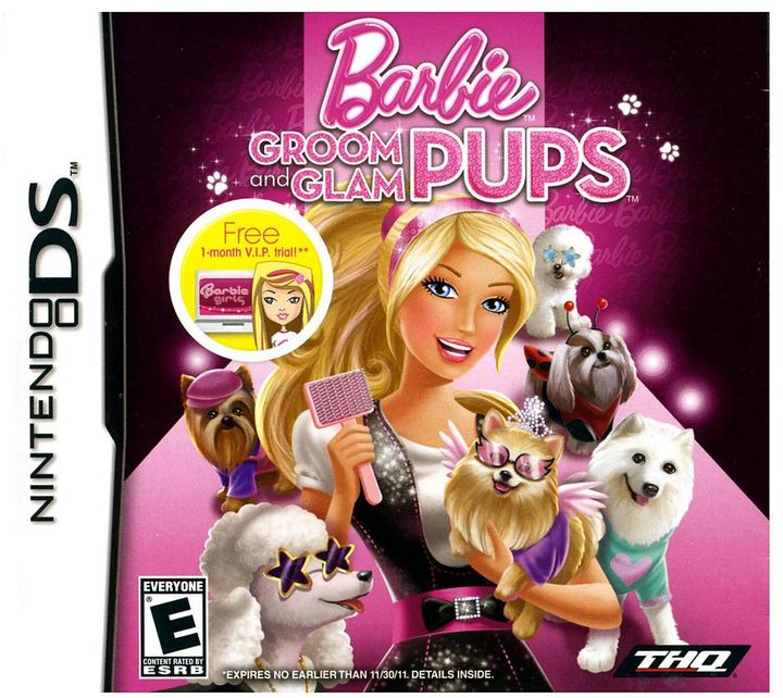 Nintendo Barbie groom & glam pups for ds
