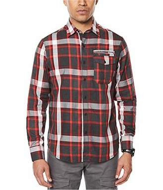 Sean John Men's Long Sleeve Og Double Pocket Shirt