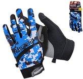 Nature Hike Naturehike Summer Climbing Gloves Unisex Breathable Hiking Gloves Cycling Gloves Telefingers Gloves (Men, L)