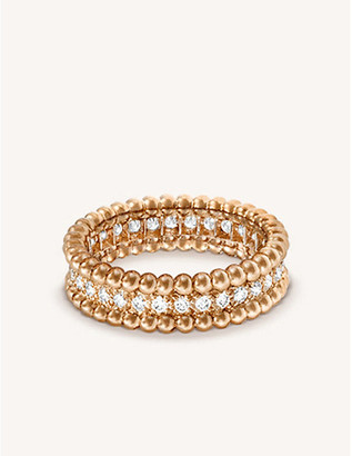 Van Cleef & Arpels Perlee rose-gold and diamond ring