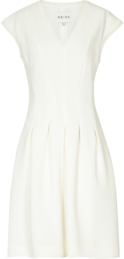 Lizzie PLEAT FIT AND FLARE DRESS