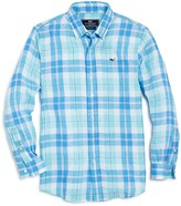 Vineyard Vines Boys' Upper Bluff Plaid Button Down Shirt