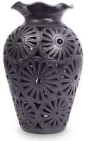 Oaxaca Floral Vase, 'Floral Ruffles'