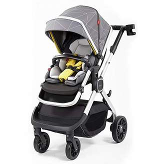 Diono Quantum2 3-in-1 Luxury Muti-Mode Stroller, Grey Linear (Discontinued by Manufacture)