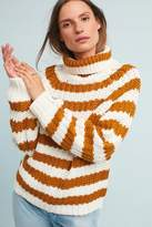 Anthropologie Maribel Striped Roll-Neck Jumper