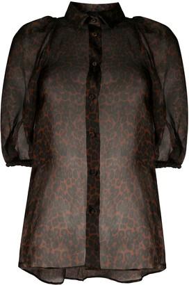 Simonetta Ravizza Patty animal print blouse
